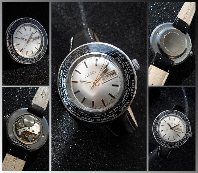 РАКЕТА_ПОЯСНОЕ ВРЕМЯ, сделано СССР 70-х. БОЛЬШИЕ мужские часы мех