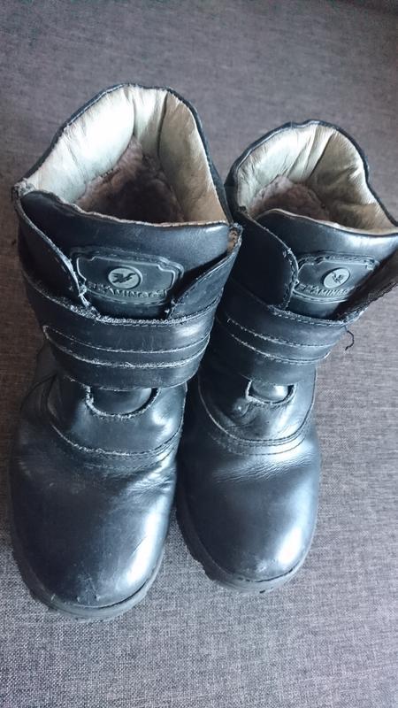 Кожаные зимние ботинки