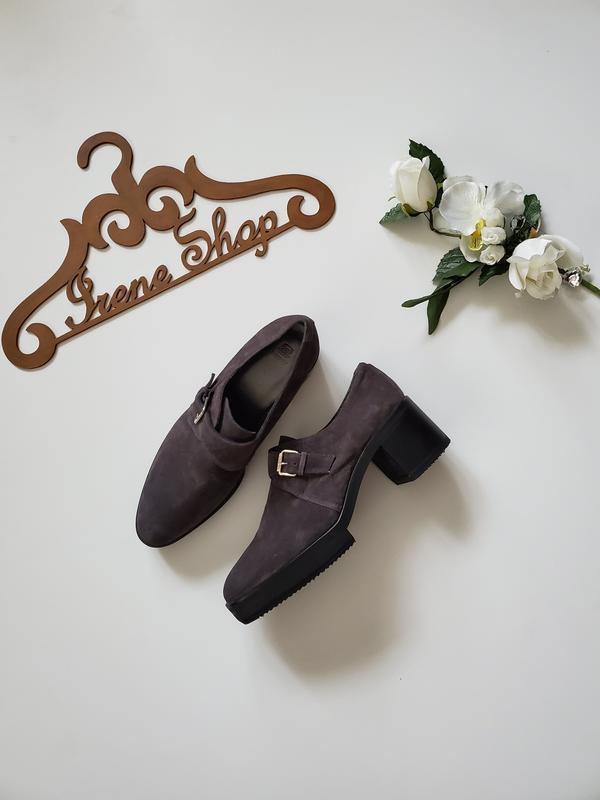 Фирменные замшевые ботинки туфли navyboot, размер 39