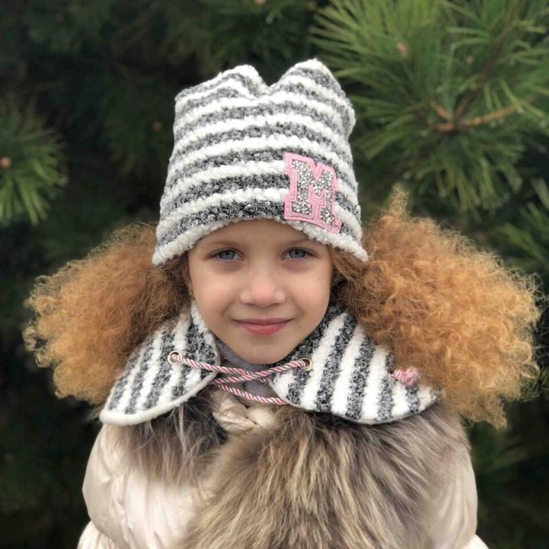 Шапочка с хомутом, зима