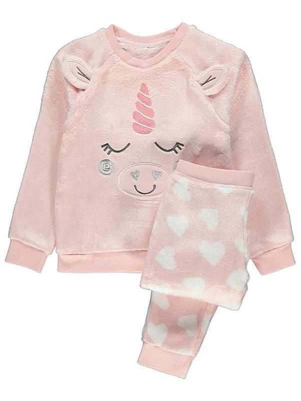 Пижама флисовая плюшевая george, 4-9лет