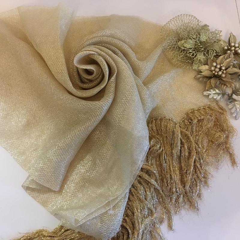 Золотая шаль , шарф