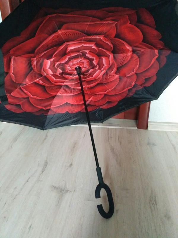 Зонт smart exclusive. ультрамодный зонт обратного сложения.