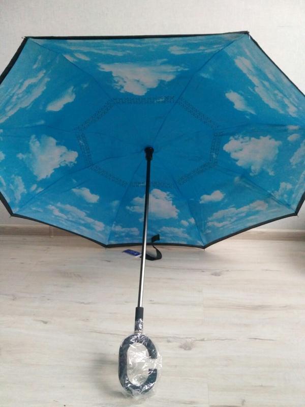 Зонт smart exclusive. голубое небо. качественный и ультрамодны...