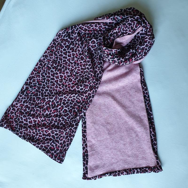 Двусторонний длинный шарф, осень-зима