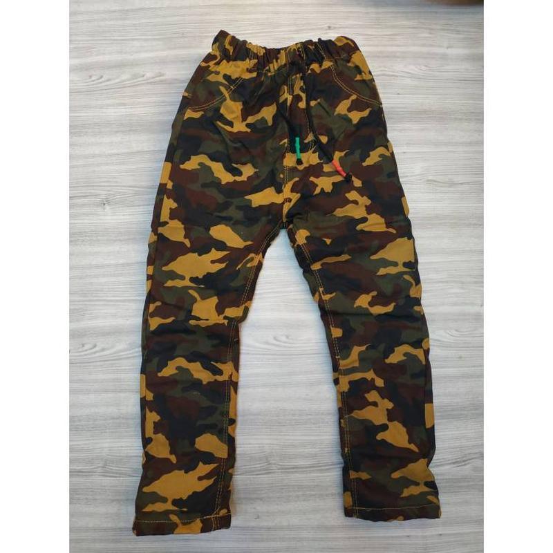 Утепленные штаны для мальчика камуфляж