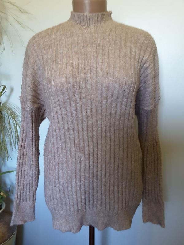 Классический теплющий свитер - Фото 2