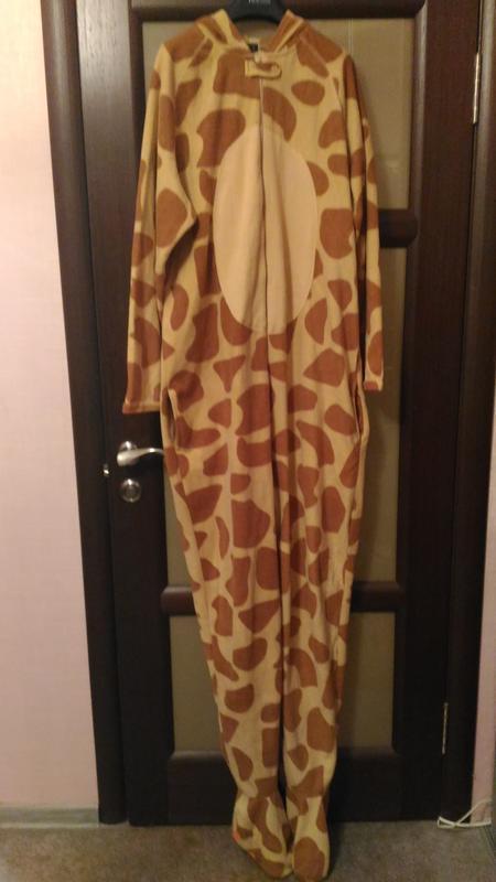 Тёплый, флисовый кигуруми жираф, р. xl, высокий рост