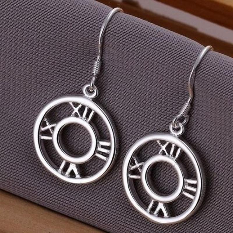 🏵️стильные серьги римкие цифры-часы в серебре 925, новые! арт.... - Фото 3