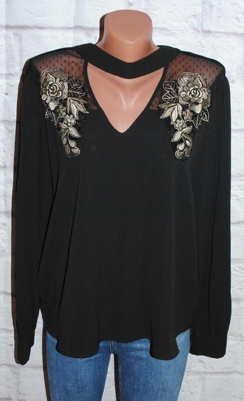 """Блуза шифоновая с объемной вышивкой """"primark"""""""