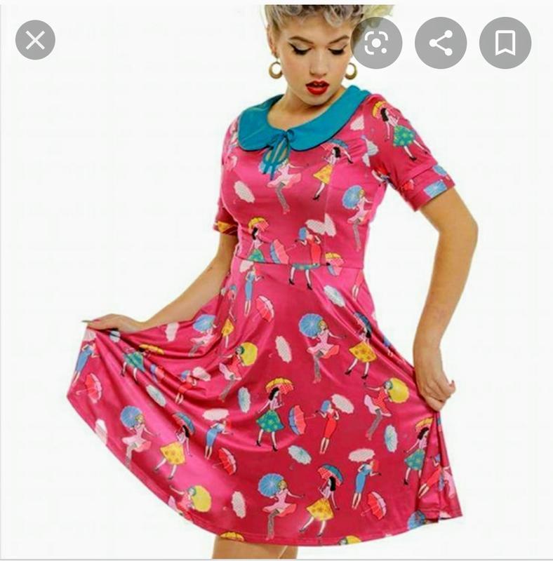Яркое оригинальное платье в принт lindy bop 54-56 размера