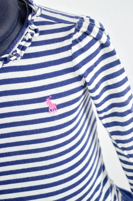 Polo ralph lauren полосатое платье с рюшами, волонами с всадни... - Фото 4
