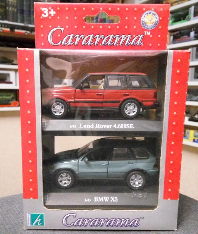 набор BMW X5, Land Rover 4.6HSE, Cararama/Hongwell, масштаб 1:43