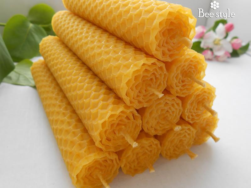 Свечи из ❣100% натуральной пчелиной вощины