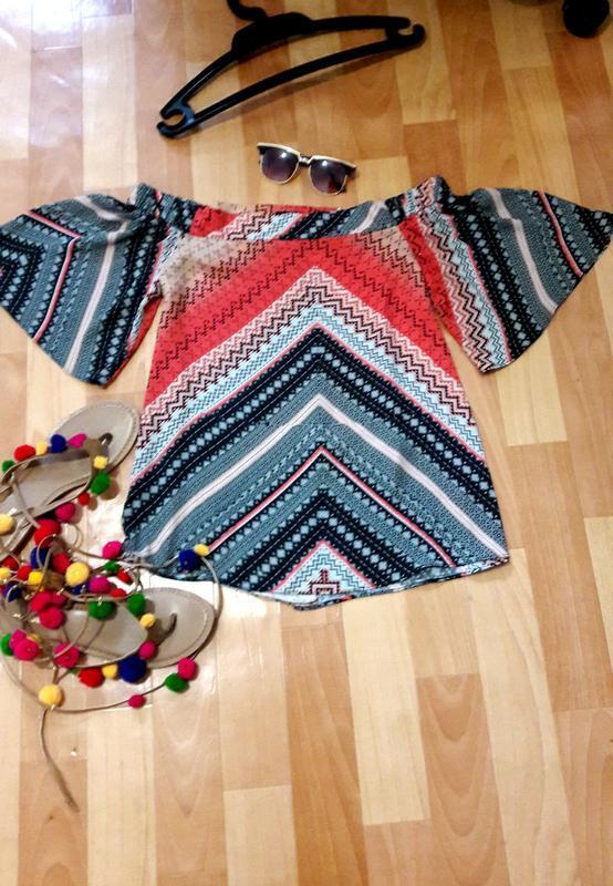Красива блуза в етнопринт