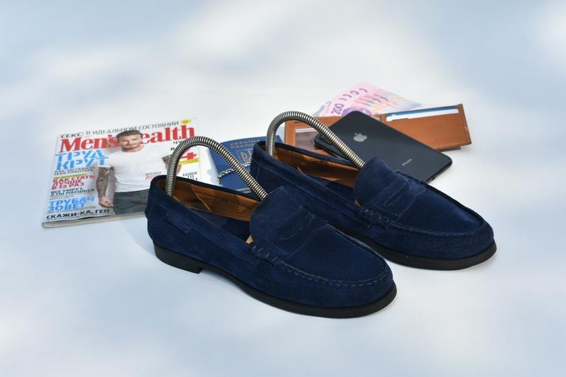 Sebago новые португалия мужские мокасины кожаные замшевые сини...