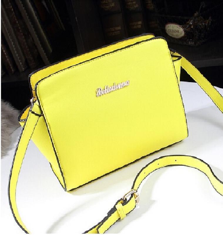 сумка женская желтого теплого цвета