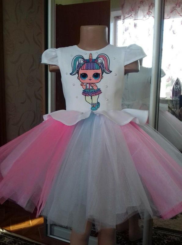 Нарядное платье лол для девочки,новое