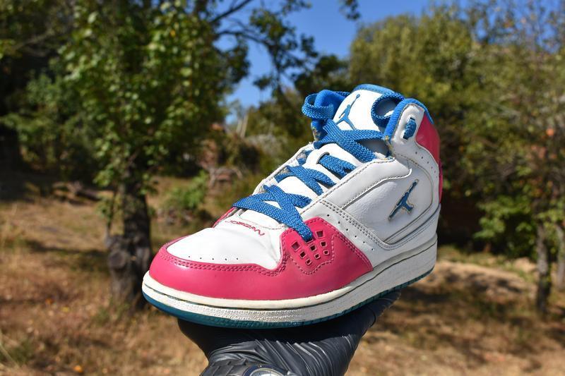 Nike air jordan оригинал женские кроссовки на осень бело-розов...