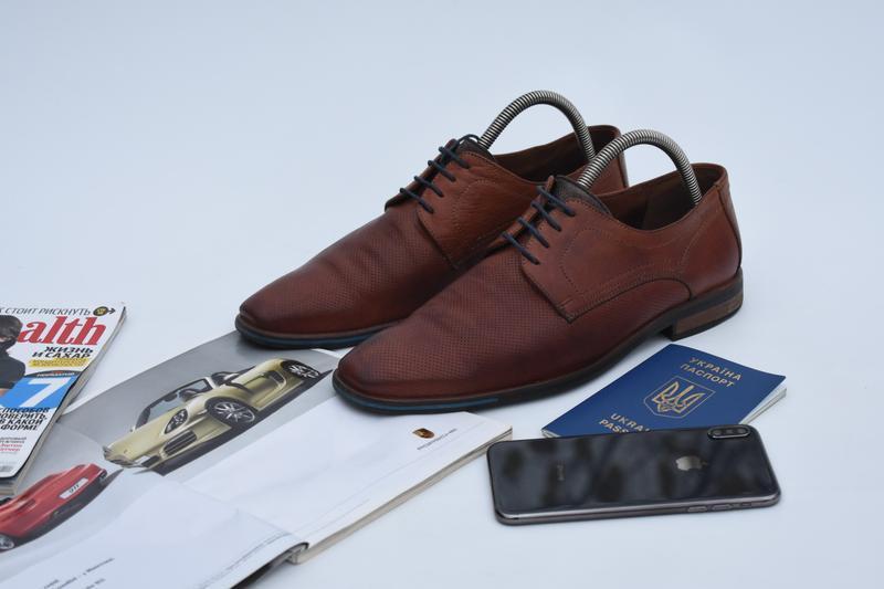 Lloyd германия мужские туфли кожаные на осень коричневые разме...