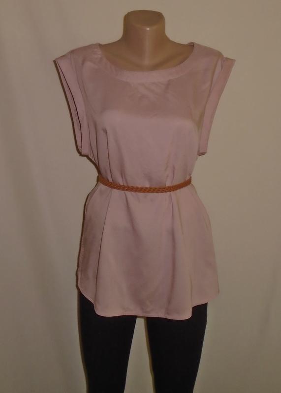 Пепельно-розовая блуза свободного кроя/блузка/рубашка/сорочка/...