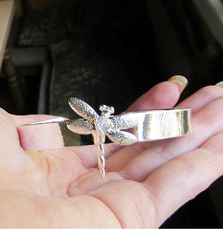 🏵стильный браслет в серебре 925 стрекоза с фианитом, новый! ар... - Фото 6