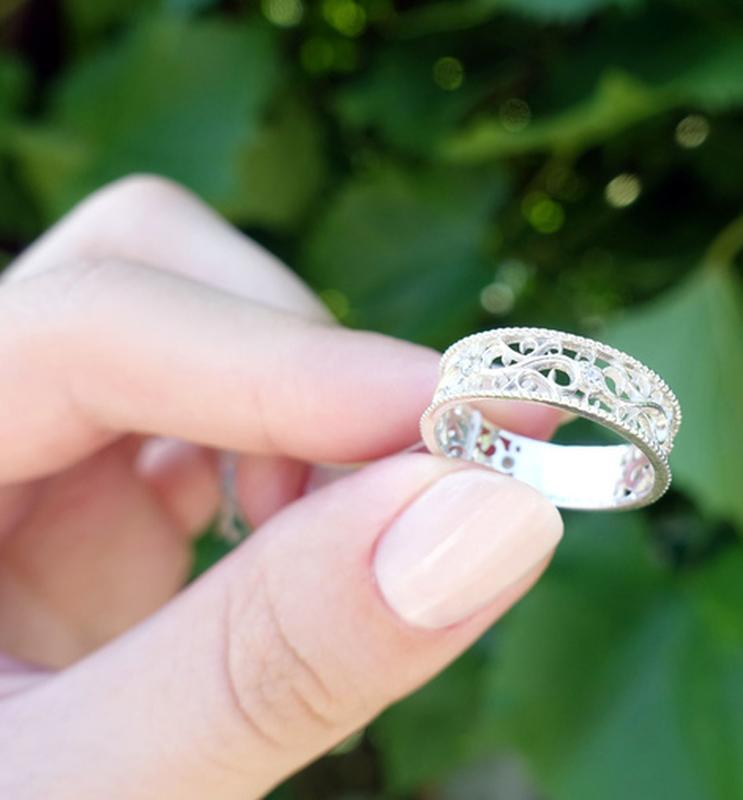 Кольцо ажурное 17 размер
