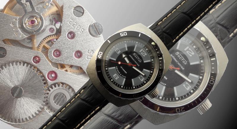 Часы «ВОСТОК_Амфибия_БОЧКА» сделано в СССР в 1981 г. механические