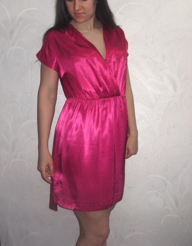 Платье miss selfridge как шёлк розовое яркое