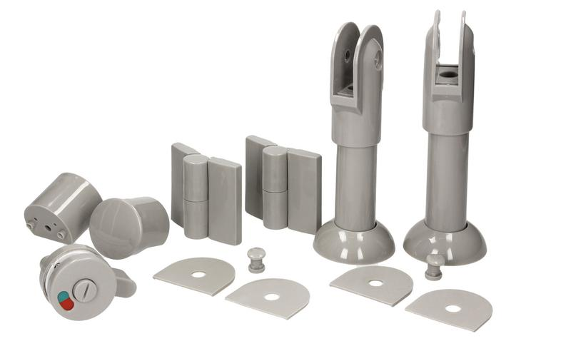 Фурнітура для туалетних перегородок - комплект 10-13 / 150 - п...