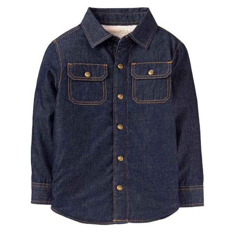 Ветровка рубашка на шерпе для мальчика 7-8 лет crazy8
