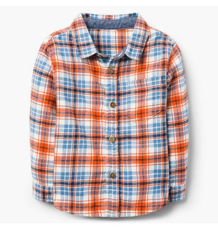 Фланелевая рубашка для мальчика 3-4 года gymboree