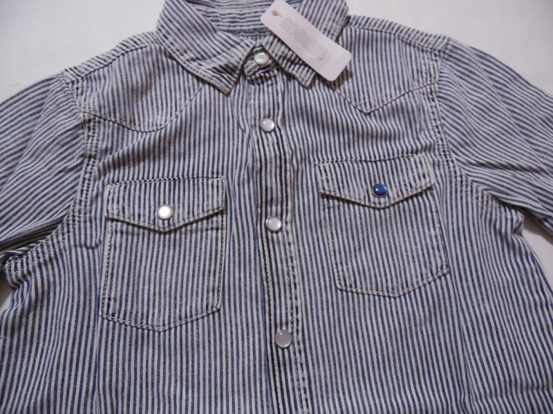 Рубашка для мальчика 5-7, 7-9 лет gymboree - Фото 3