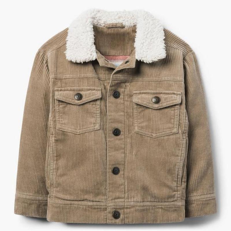 Вельветовая куртка на трикотажной подкладке для мальчика 4-5, ...