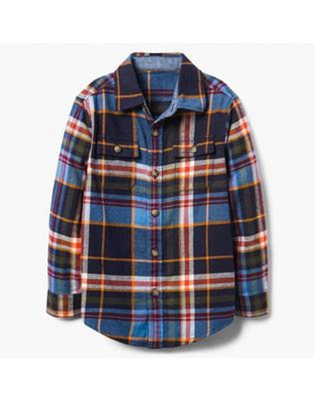 Фланелевая рубашка для мальчика 4-6, 7-9,10-12 лет gymboree