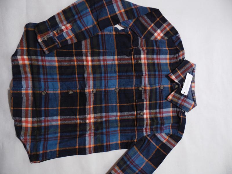 Фланелевая рубашка для мальчика 4-6, 7-9 лет gymboree - Фото 6