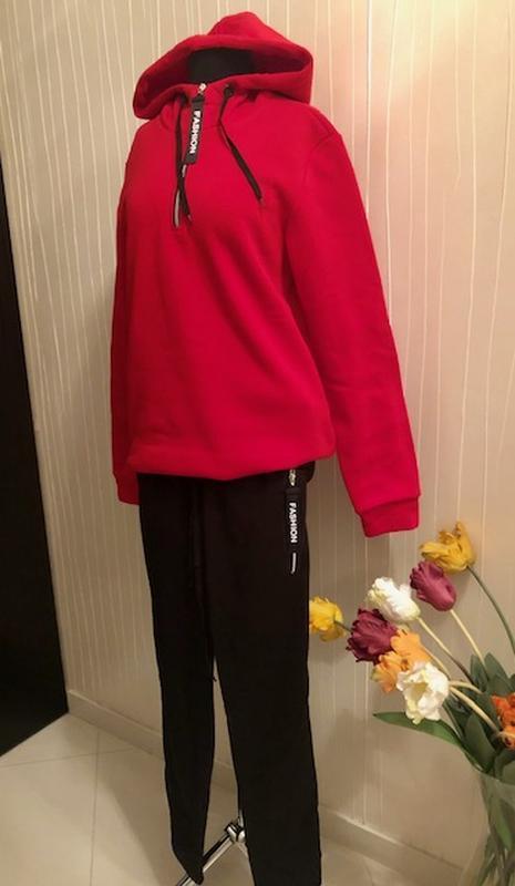 Спортивный утепленный костюм женский - Фото 7