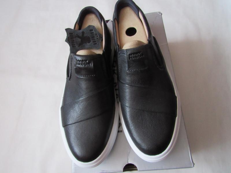 Мужские кожаные кроссовки туфли 25.5 см стелька 40 eur