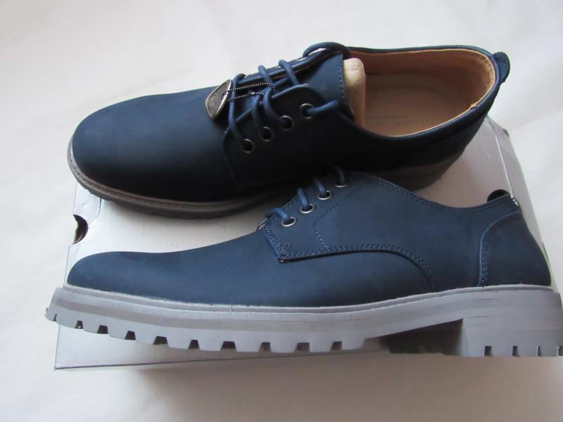 Мужские кожаные туфли с нубука mark nason 26.5 см стелька 41 eur