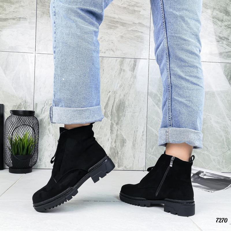 Замшевые ботиночки - Фото 3