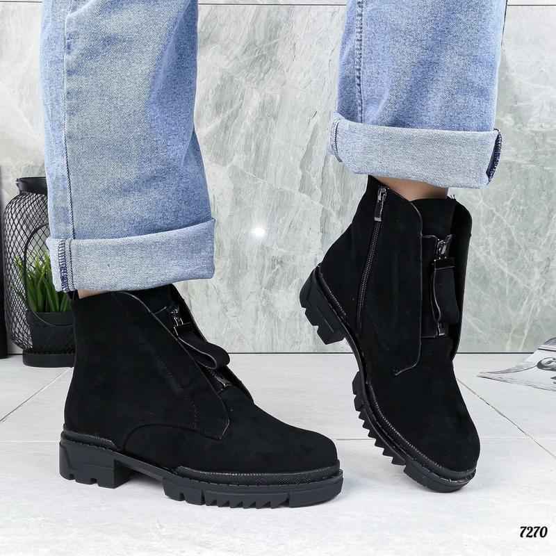 Замшевые ботиночки - Фото 4