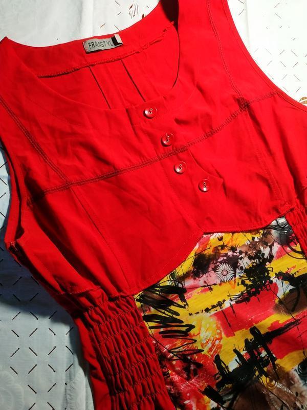 Оригинальное платье сарафан franstyle - Фото 2