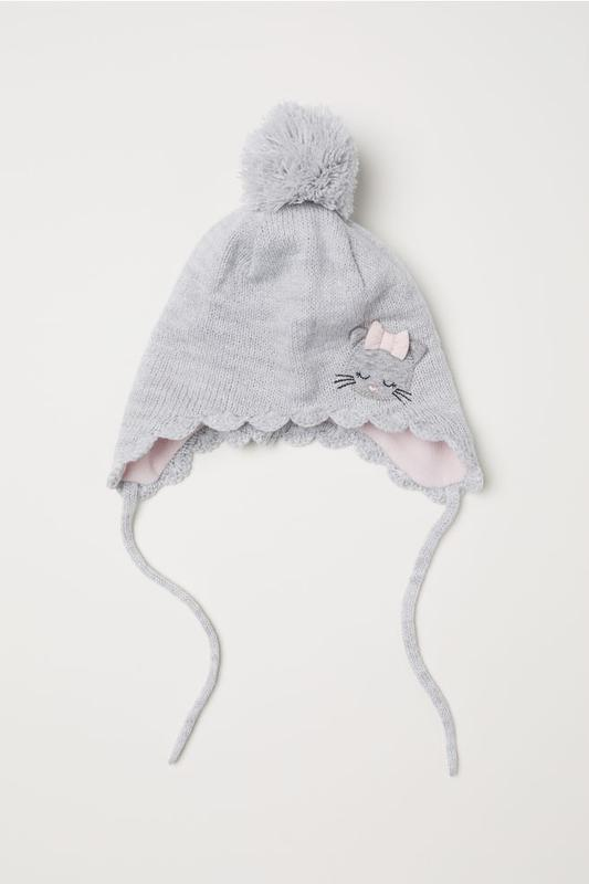 Фирменная шапочка, шапка на флисе для девочки h&m, размер 86-9...