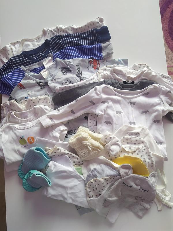 Большой пакет одежды для мальчика 0-6 месяцев