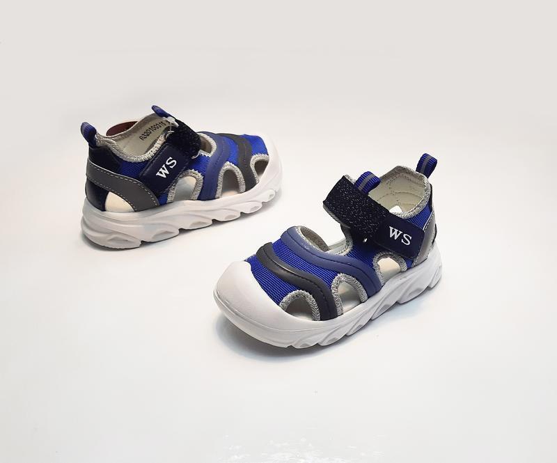 Детские босоножки для мальчика синие