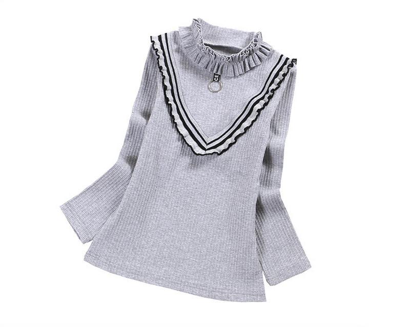 Стильная теплая кофта, блузка для девочки