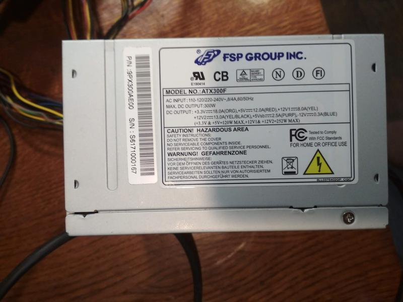 Блок питания FSP ATX300F 300W №4