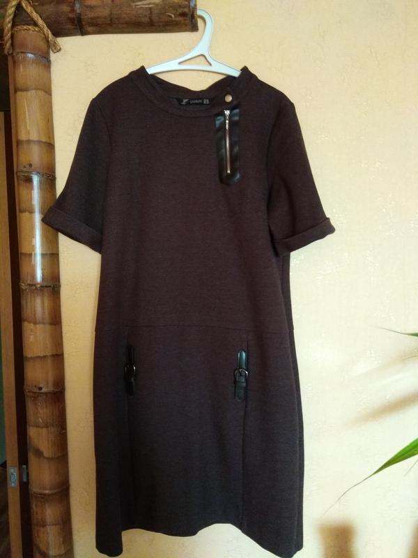 Плотное трикотажное платье perletti - Фото 2