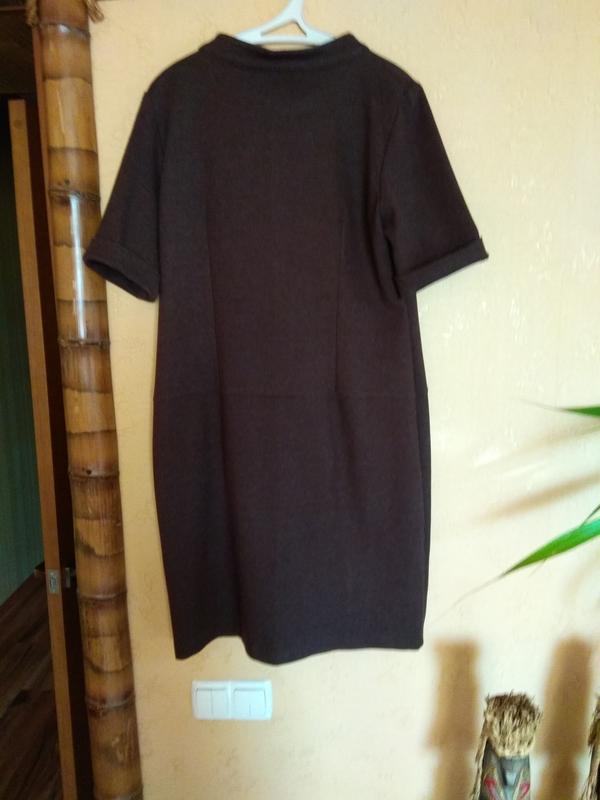 Плотное трикотажное платье perletti - Фото 3