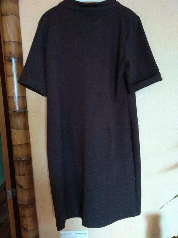 Плотное трикотажное платье perletti - Фото 4